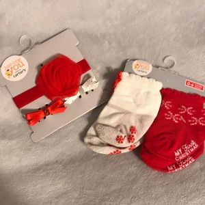 baby girl christmas accessories NwT